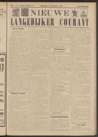 Nieuwe Langedijker Courant 1926-10-19