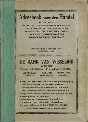 Adresboek van Alkmaar 1924-01-01