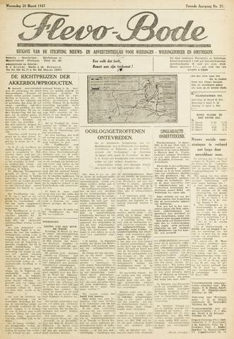 Flevo-bode: nieuwsblad voor Wieringen-Wieringermeer 1947-03-26