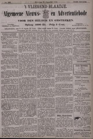 Vliegend blaadje : nieuws- en advertentiebode voor Den Helder 1875-08-28