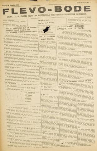 Flevo-bode: nieuwsblad voor Wieringen-Wieringermeer 1945-11-16