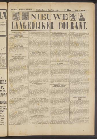 Nieuwe Langedijker Courant 1923-10-04