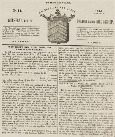 Weekblad van Den Helder en het Nieuwediep 1844-04-01