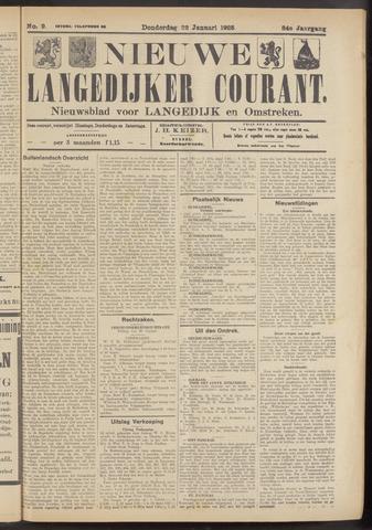 Nieuwe Langedijker Courant 1925-01-22