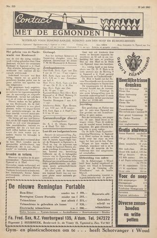 Contact met de Egmonden 1962-07-12