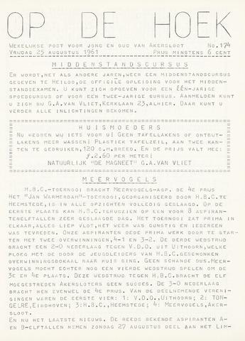 Op De Hoek, weekblad voor Akersloot 1961-08-25