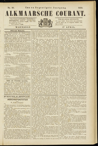 Alkmaarsche Courant 1889-04-17