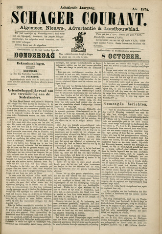 Schager Courant 1874-10-08