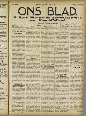 Ons Blad : katholiek nieuwsblad voor N-H 1911-07-29
