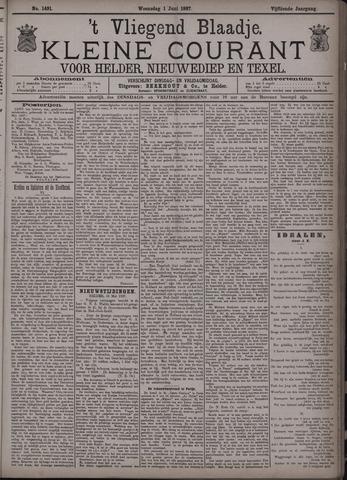 Vliegend blaadje : nieuws- en advertentiebode voor Den Helder 1887-06-01