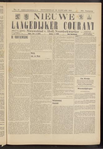 Nieuwe Langedijker Courant 1931-01-29