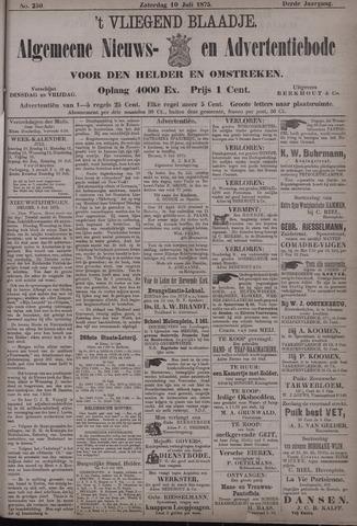 Vliegend blaadje : nieuws- en advertentiebode voor Den Helder 1875-07-10