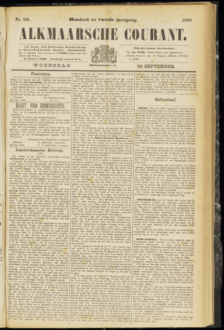 Alkmaarsche Courant 1900-09-26