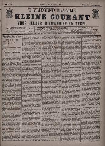 Vliegend blaadje : nieuws- en advertentiebode voor Den Helder 1884-01-26