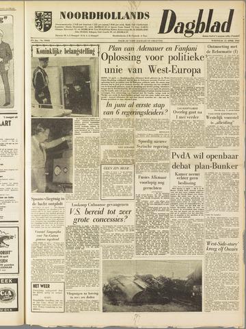 Noordhollands Dagblad : dagblad voor Alkmaar en omgeving 1962-04-11