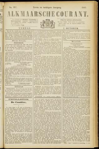 Alkmaarsche Courant 1885-10-02