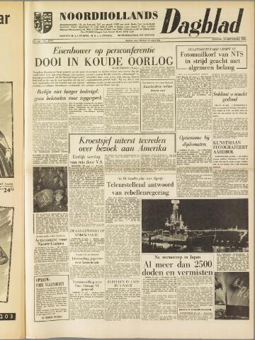 Noordhollands Dagblad : dagblad voor Alkmaar en omgeving 1959-09-29