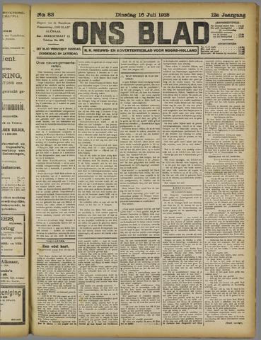 Ons Blad : katholiek nieuwsblad voor N-H 1918-07-16