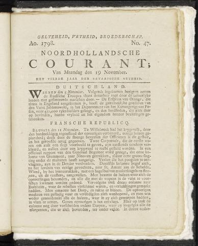 Noordhollandsche Courant 1798-11-19