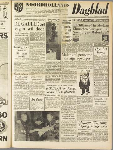 Noordhollands Dagblad : dagblad voor Alkmaar en omgeving 1960-11-05
