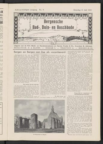 Bergensche bad-, duin- en boschbode 1937-07-31