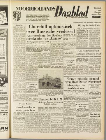 Noordhollands Dagblad : dagblad voor Alkmaar en omgeving 1953-11-04