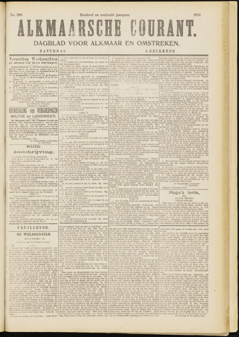 Alkmaarsche Courant 1914-12-05