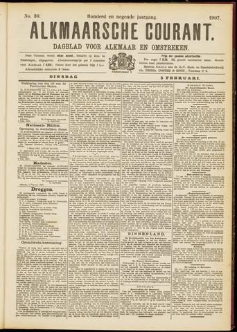 Alkmaarsche Courant 1907-02-05