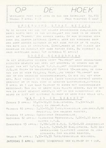 Op De Hoek, weekblad voor Akersloot 1961-04-07