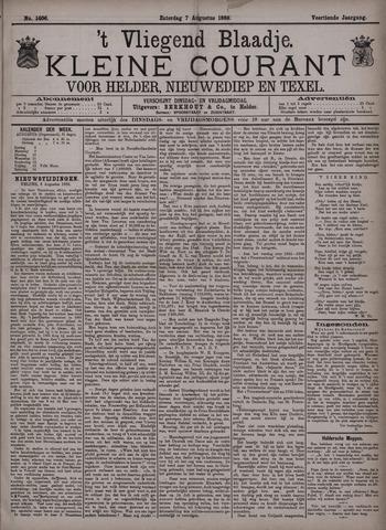 Vliegend blaadje : nieuws- en advertentiebode voor Den Helder 1886-08-07