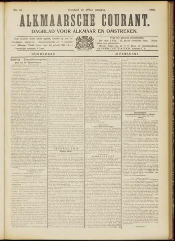 Alkmaarsche Courant 1909-02-25