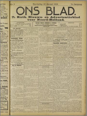 Ons Blad : katholiek nieuwsblad voor N-H 1913-01-23
