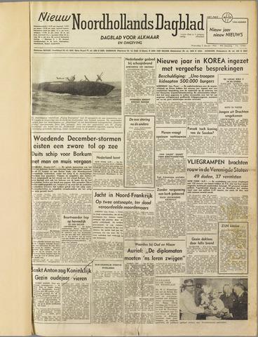 Nieuw Noordhollandsch Dagblad : voor Alkmaar en omgeving 1952-01-02