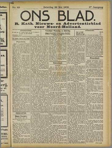 Ons Blad : katholiek nieuwsblad voor N-H 1909-05-29