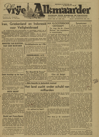De Vrije Alkmaarder 1946-01-26
