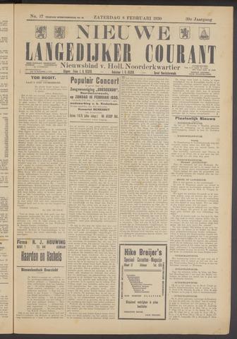 Nieuwe Langedijker Courant 1930-02-08