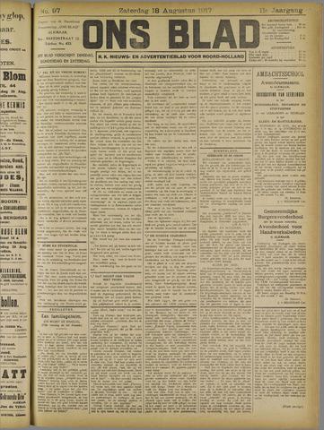 Ons Blad : katholiek nieuwsblad voor N-H 1917-08-18