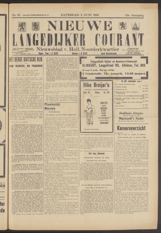 Nieuwe Langedijker Courant 1933-06-03