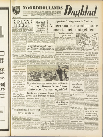 Noordhollands Dagblad : dagblad voor Alkmaar en omgeving 1958-07-19