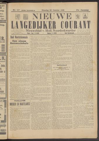 Nieuwe Langedijker Courant 1928-10-30