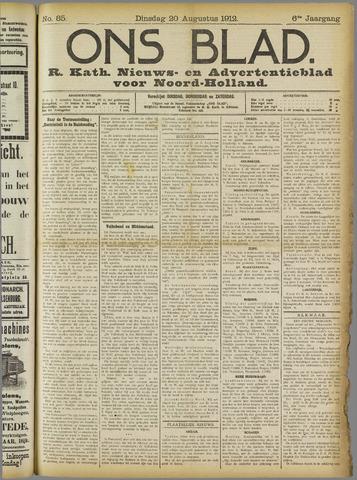 Ons Blad : katholiek nieuwsblad voor N-H 1912-08-20
