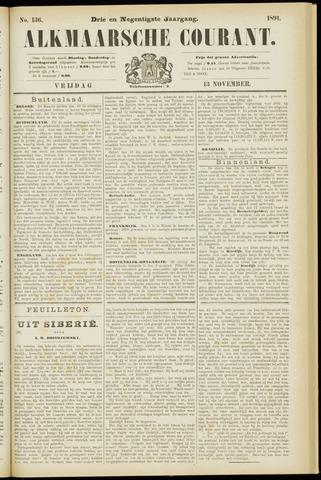 Alkmaarsche Courant 1891-11-13