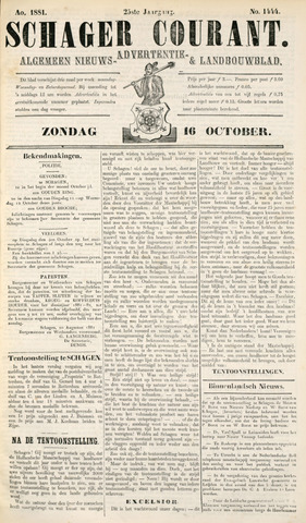 Schager Courant 1881-10-16