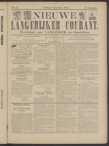 Nieuwe Langedijker Courant 1894-12-09