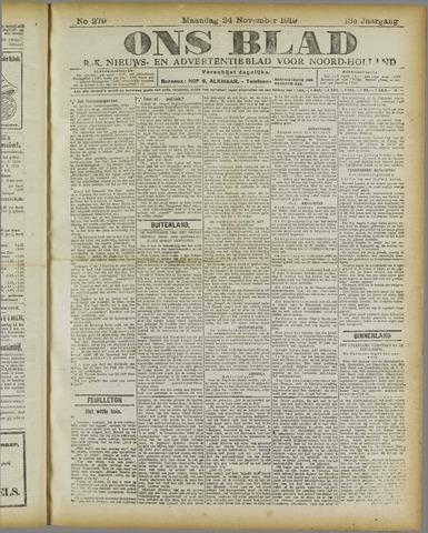 Ons Blad : katholiek nieuwsblad voor N-H 1919-11-24