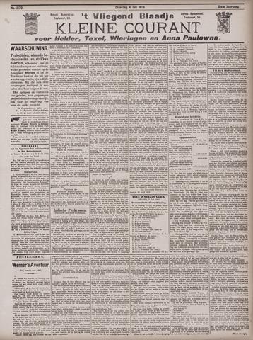 Vliegend blaadje : nieuws- en advertentiebode voor Den Helder 1903-07-04
