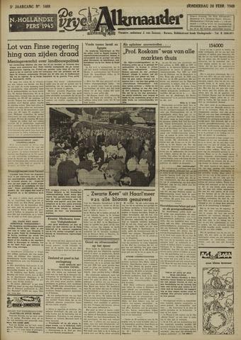 De Vrije Alkmaarder 1949-02-24