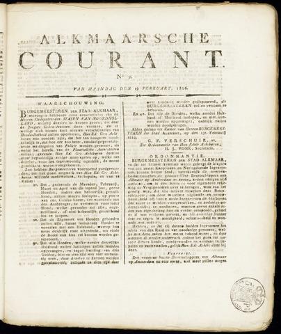 Alkmaarsche Courant 1816-02-19
