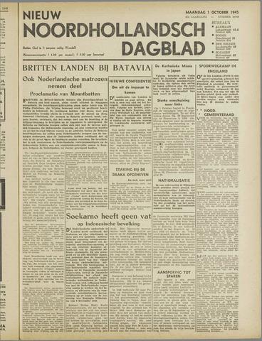 Nieuw Noordhollandsch Dagblad : voor Alkmaar en omgeving 1945-10-01