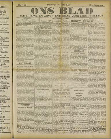 Ons Blad : katholiek nieuwsblad voor N-H 1919-06-24